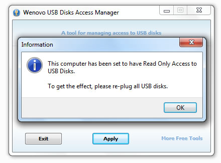 Wenovo USB Disks Access Manager 1.0 full